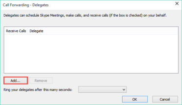 Add a Delegate in Skype for Business – Master & CmdR